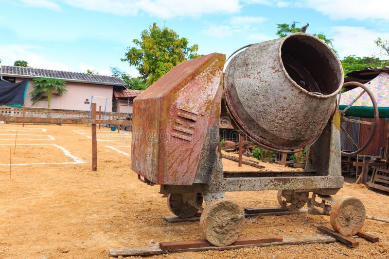 Cement maler maskinen fotografering för bildbyråer