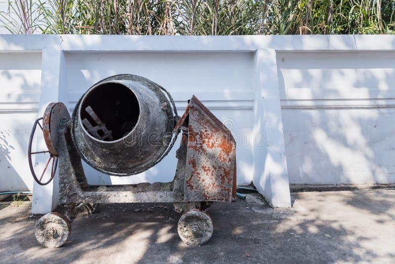 Cement maler maskinen för konstruktion arkivfoton