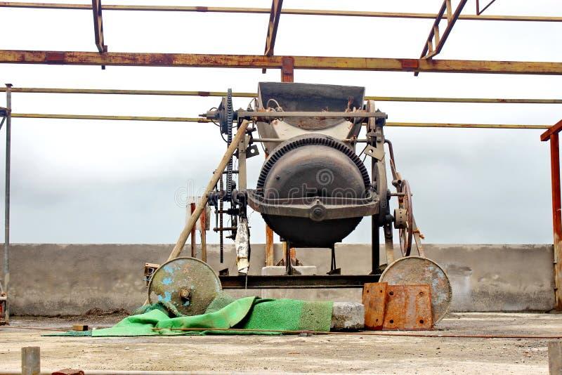 Cement mixer drum stock images
