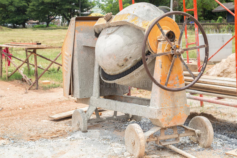 Download Cement mixer stock photo. Image of concrete, stone, sand - 43515514