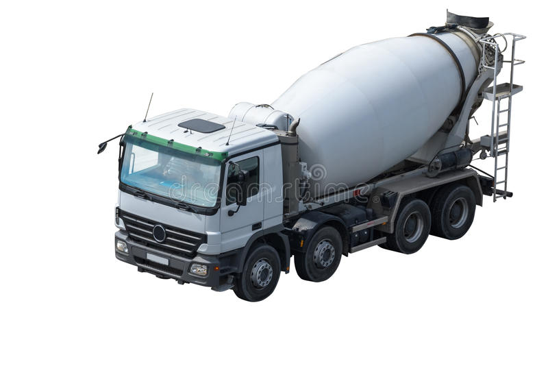 Cement mixer truck royalty free stock photography