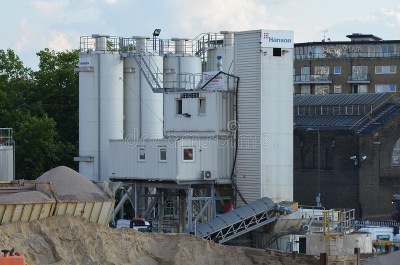 Cement Mixing Plant royalty free stock image