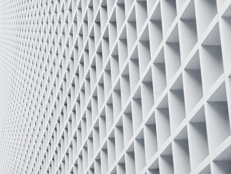 Cement panel Architecture details Geometric Pattern. Architecture Abstract white wall design stock photography