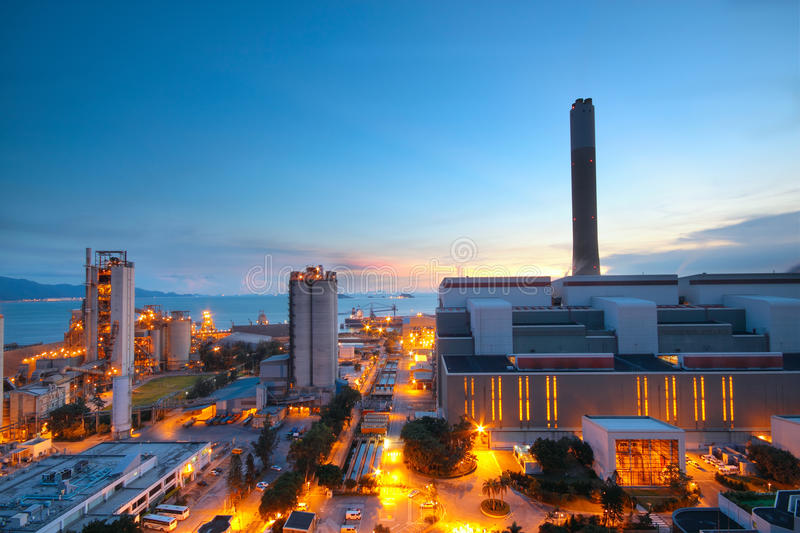 Download Cement Plant And Power Sation Stock Photo - Image of construction, factory: 23812782