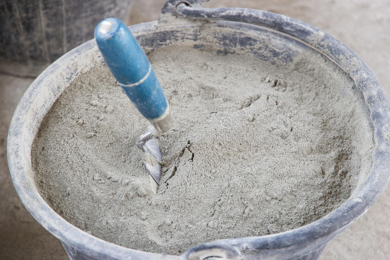 Cement. Powdered used in construction stock photos