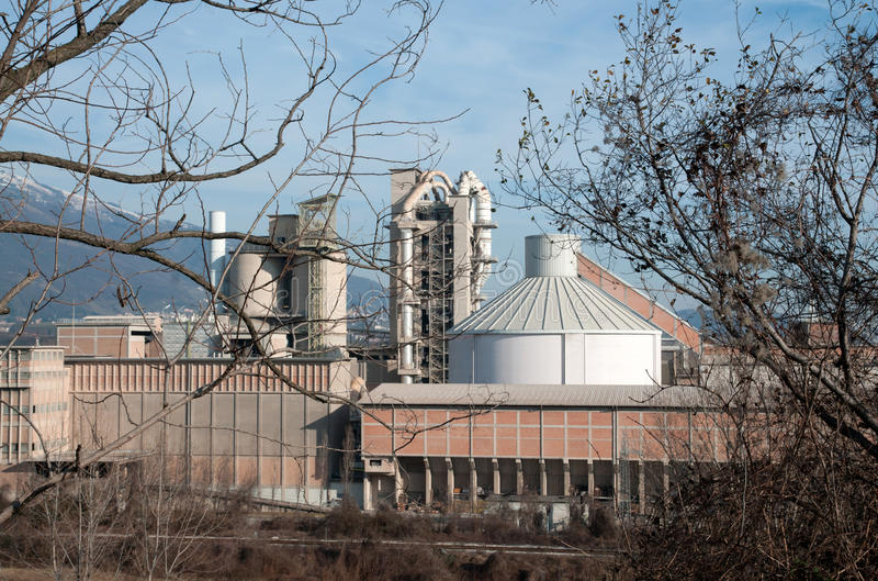 Download Cement processing plant stock photo. Image of container - 17649022