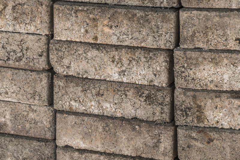 Cement sand brick stock photo