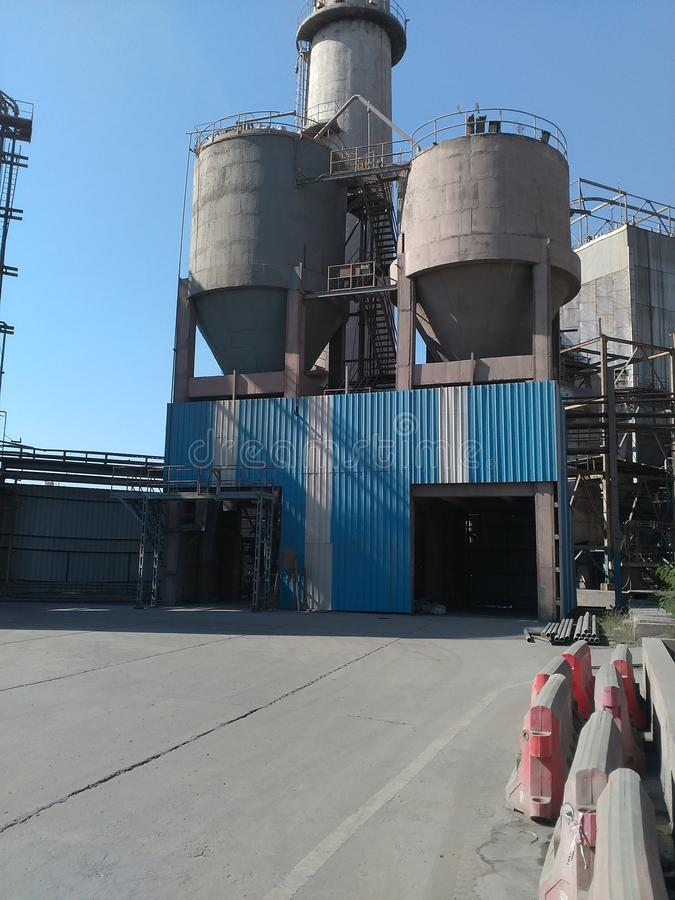 Cement silo royalty free stock images