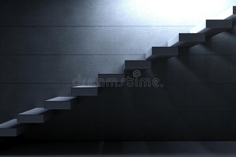 Cement Stairs on concrete background royalty free illustration
