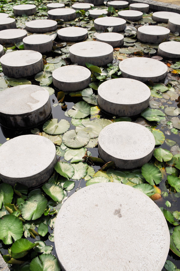 The Cement Stepping Stone Royalty Free Stock Images