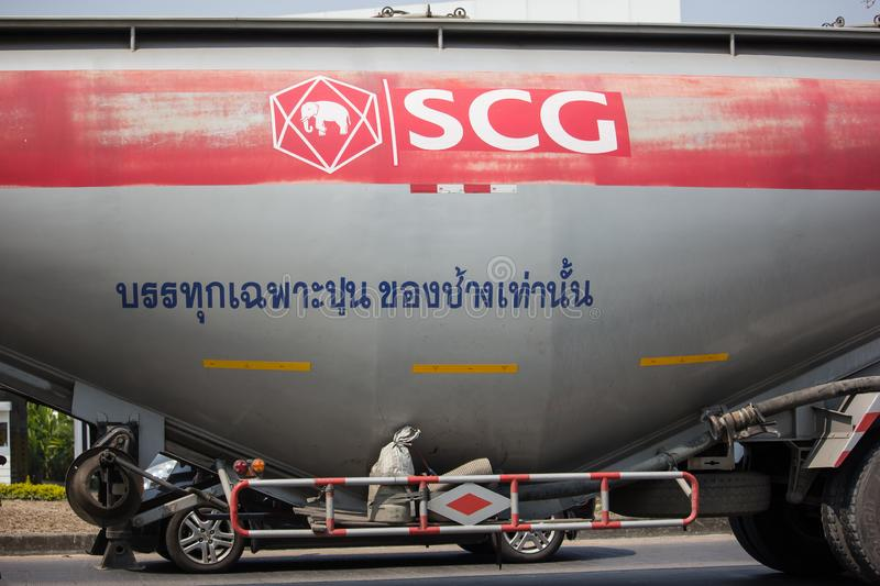 Cement Trailer truck of TLL Logistic company. Chiangmai, Thailand - February 26 2019: Cement Trailer truck of TLL Logistic company. Photo at road no.1001 about 8 royalty free stock images
