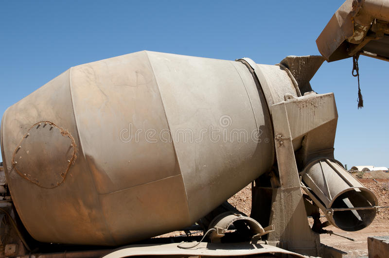 Cement Truck Barrel. On Mine Site royalty free stock photography