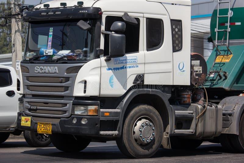 Cement truck of Boon Yarit company. Chiangmai, Thailand - March 4 2019: Cement truck of Boon Yarit company.  On road no.1001, 8 km from Chiangmai city build royalty free stock photo