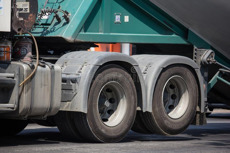 Cement truck of Boon Yarit company. Chiangmai, Thailand - March 4 2019: Cement truck of Boon Yarit company.  On road no.1001, 8 km from Chiangmai city build royalty free stock photography
