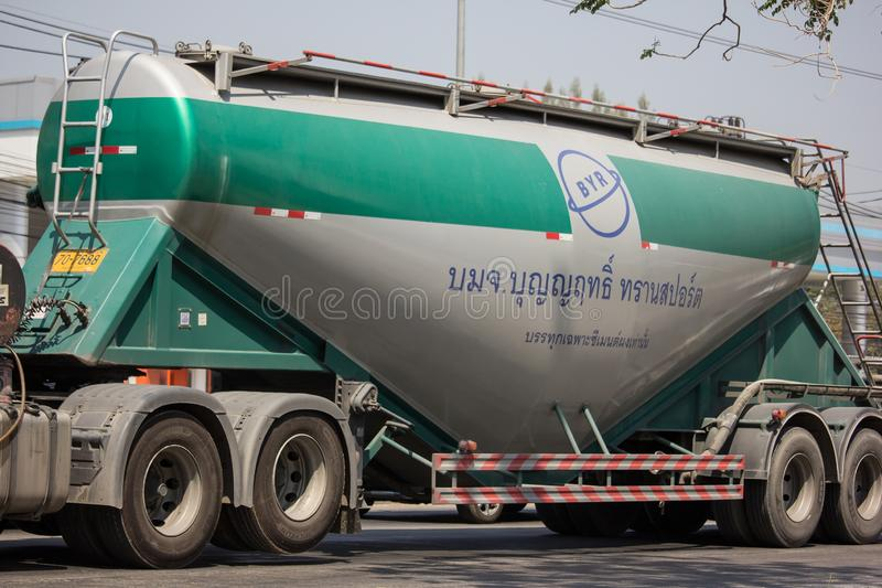 Cement truck of Boon Yarit company. Chiangmai, Thailand - March 4 2019: Cement truck of Boon Yarit company.  On road no.1001, 8 km from Chiangmai city build royalty free stock images