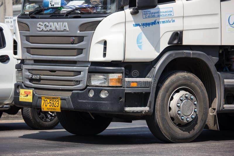 Cement truck of Boon Yarit company. Chiangmai, Thailand - March 4 2019: Cement truck of Boon Yarit company.  On road no.1001, 8 km from Chiangmai city build stock photos
