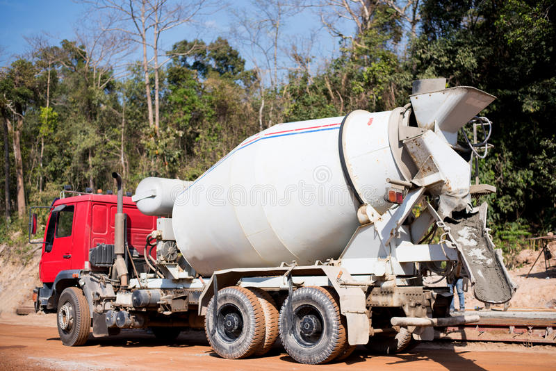 Cement truck. Cement truck for built construction royalty free stock image