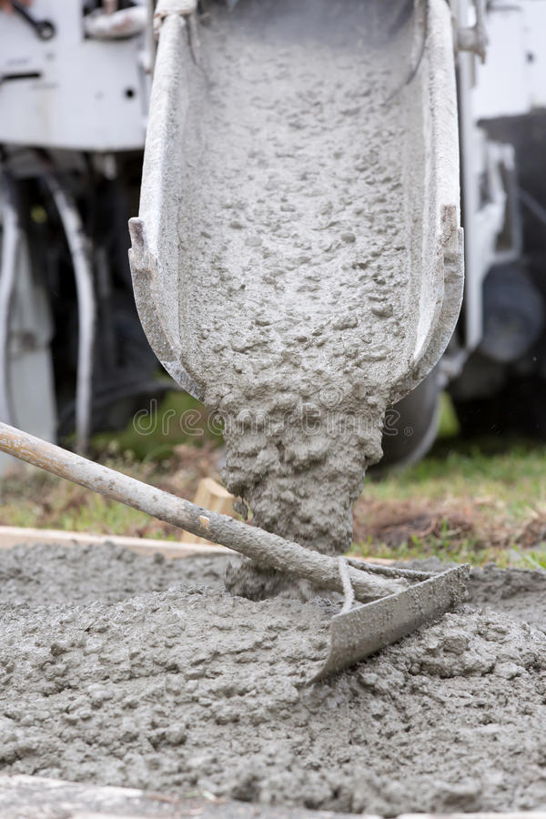 Download Cement Truck Pour Stock Photo. Image Of Concrete, Automated    30864710