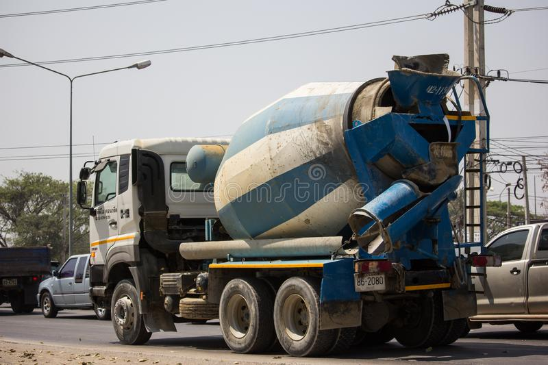 Cement truck of TPI Transport. Chiangmai, Thailand - March 8 2019: Cement truck of TPI Transport. Photo at road no.1001 about 8 km from city center, thailand stock image