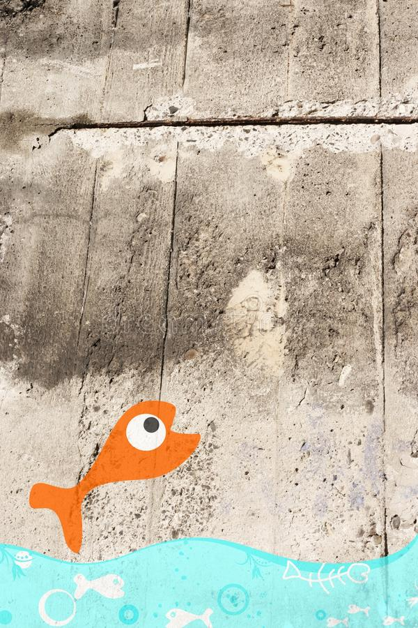 Download Cement wall stock photo. Image of gray, cracked, texture - 23864656