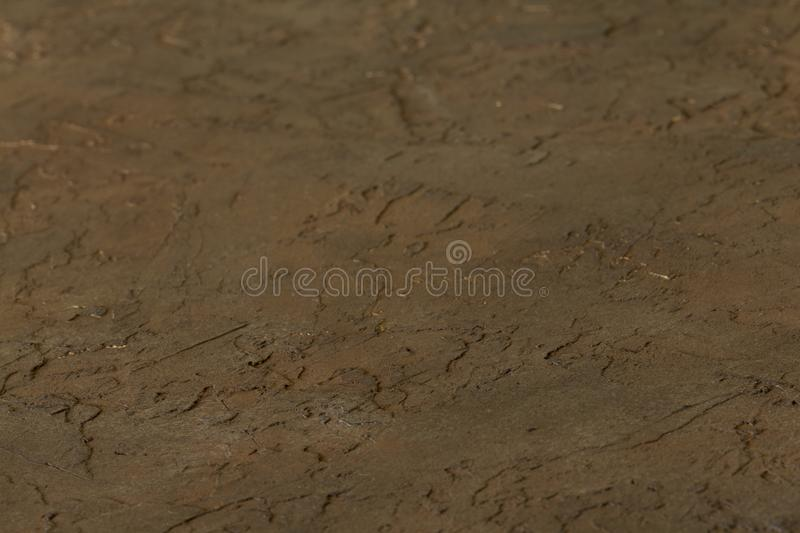 Cement wall of background & texture Close-up. View at an angle royalty free stock photo