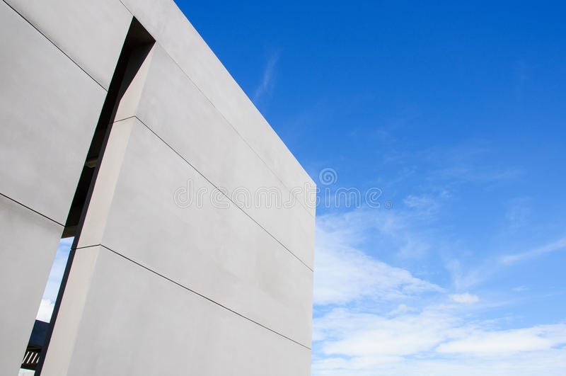 Cement Wall and sky stock image