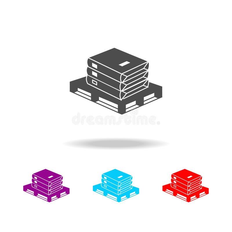 Cement zdojest ikonę Elementy materiały budowlani w wielo- barwionych ikonach Premii ilości graficznego projekta ikona Prosta iko ilustracja wektor