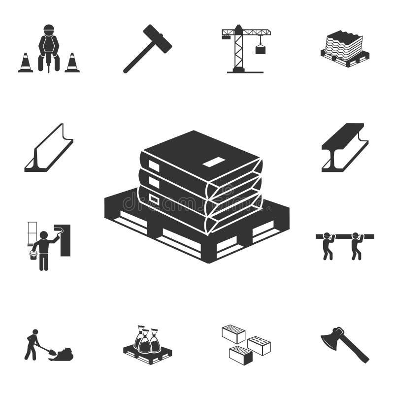 Cement zdojest ikonę Szczegółowy set materiał budowlany ikony Premii ilości graficzny projekt Jeden inkasowe ikony dla nas ilustracji