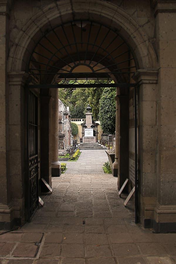 Cementary mexikan arkivbild
