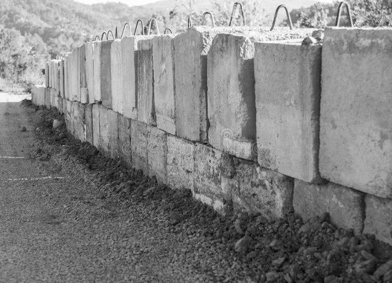 Cementbarrière royalty-vrije stock afbeelding