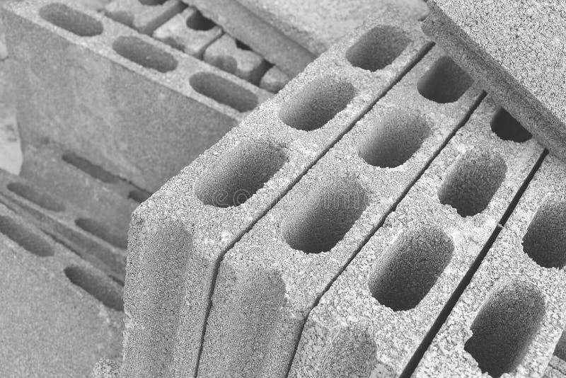 Cementblokken stock afbeeldingen