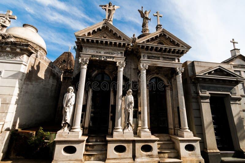 Cementerio的de La Recoleta布宜诺斯艾利斯,阿根廷陵墓 免版税图库摄影