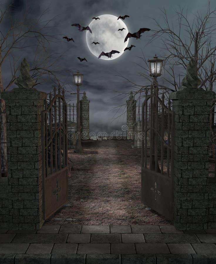 Cementerio ilustración del vector