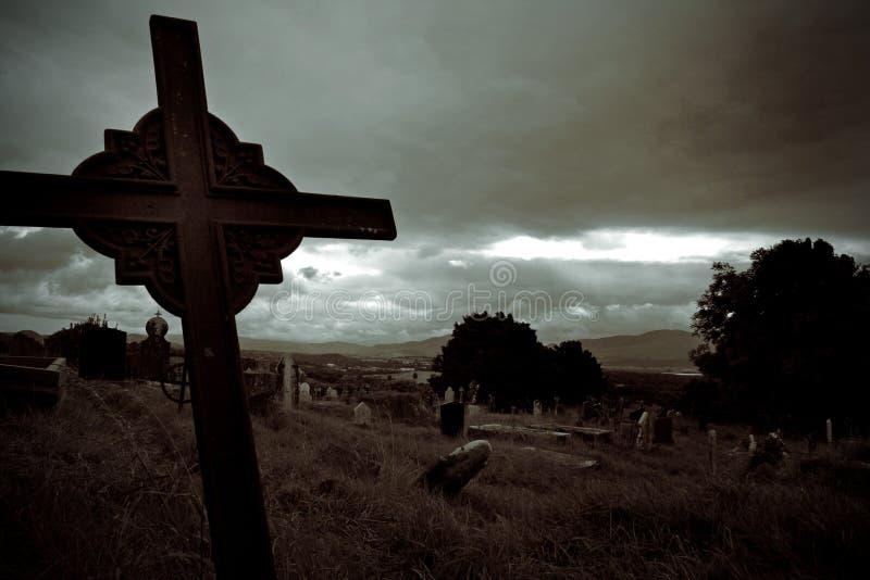 Cementerio foto de archivo
