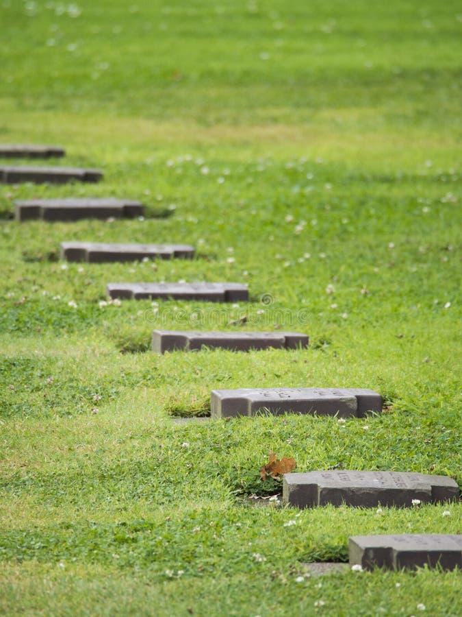 Cementerio alemán de la guerra de Cambe del La, Francia fotos de archivo