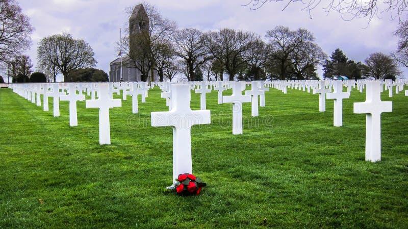 Cementerio americano de la guerra imágenes de archivo libres de regalías