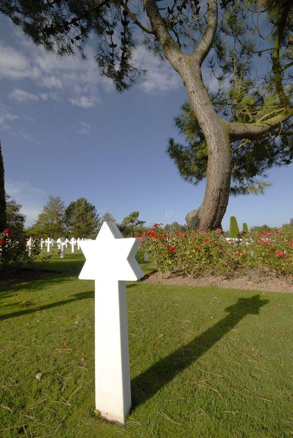 Cementerio americano de la guerra en Normandía foto de archivo libre de regalías