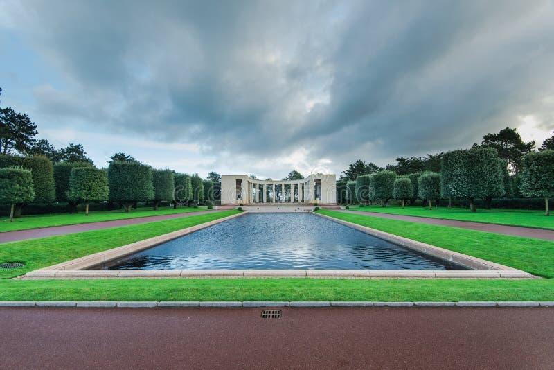 Cementerio americano en el monumento de Normandía, Francia fotos de archivo libres de regalías