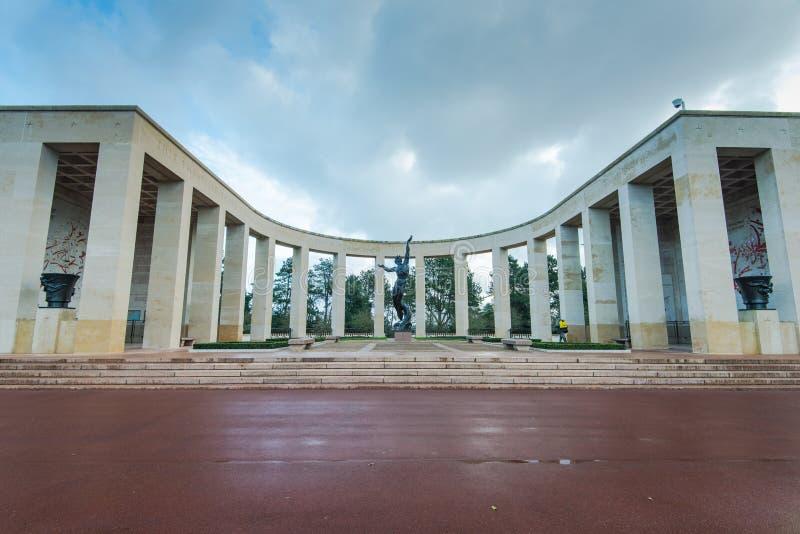Cementerio americano en el monumento de Normandía, Francia foto de archivo