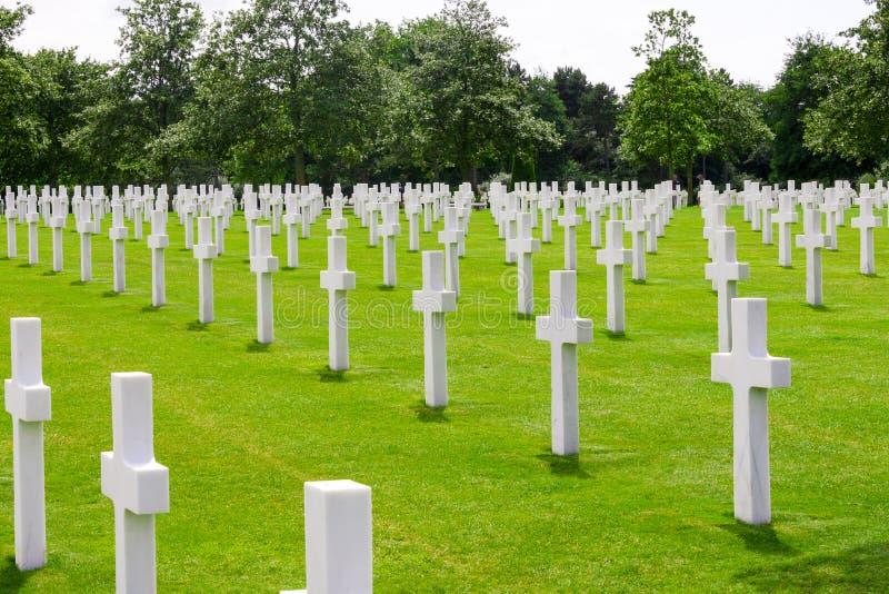 Cementerio americano, Normandía, Francia imagenes de archivo
