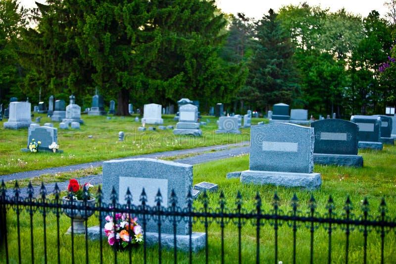 Cementerio asustadizo imagen de archivo libre de regalías