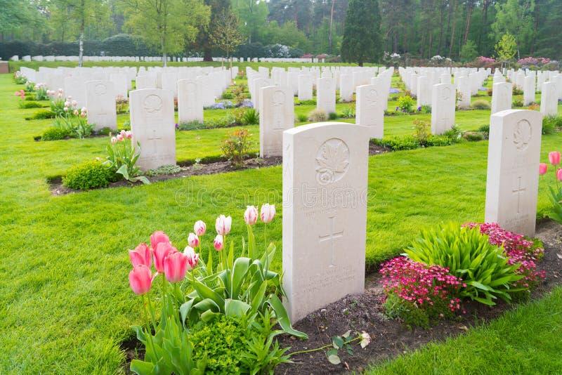 Cementerio canadiense de la guerra de Holten fotografía de archivo libre de regalías