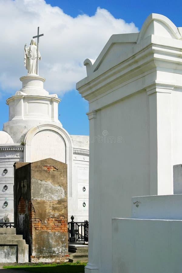 Cementerio católico imagen de archivo