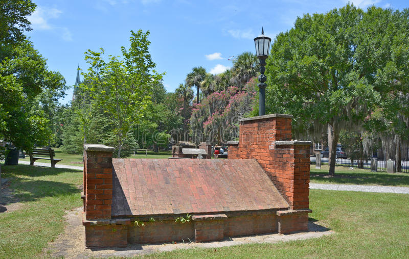 Cementerio colonial del parque fotografía de archivo libre de regalías