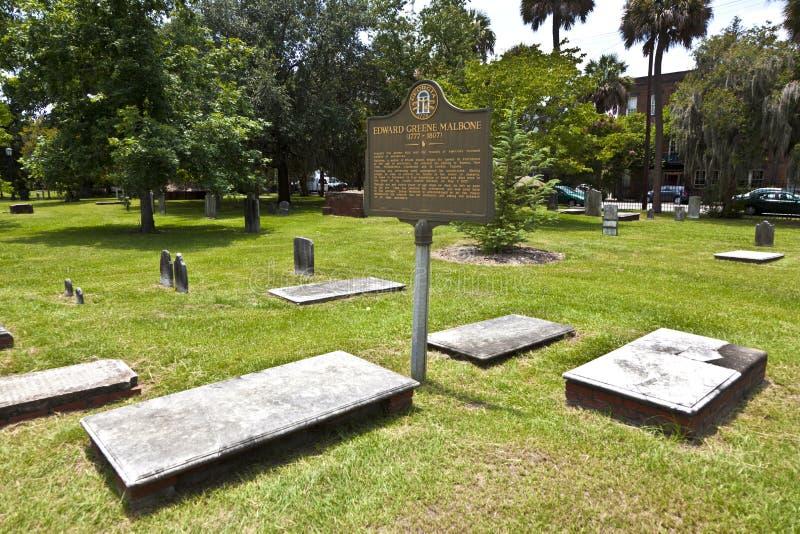 Cementerio colonial del parque en sabana fotos de archivo libres de regalías