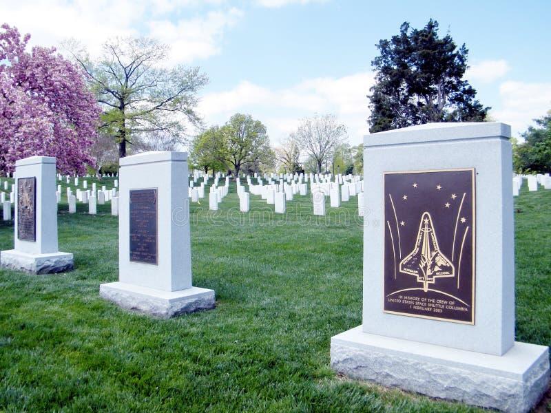 Cementerio Columbia de Arlington y monumento 2010 del desafiador fotografía de archivo libre de regalías