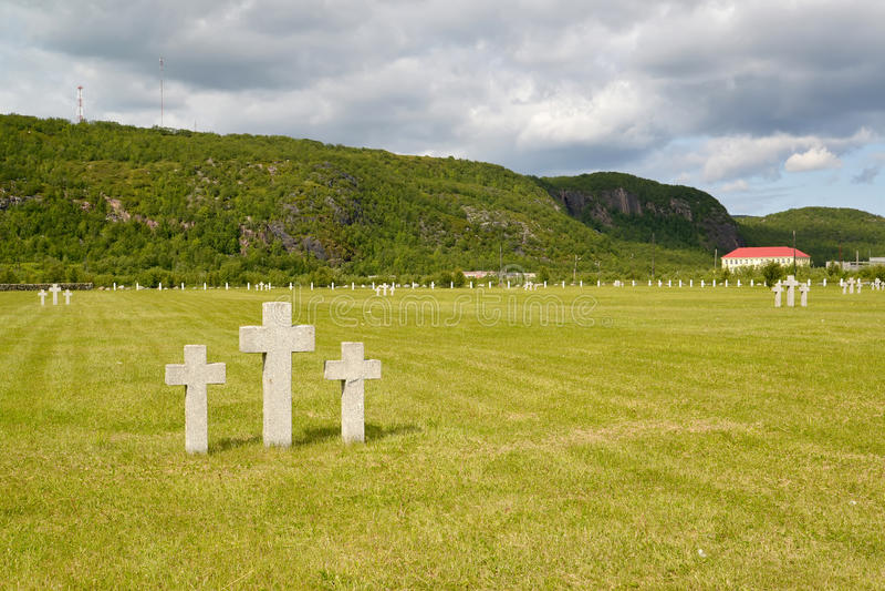 Cementerio conmemorativo Ruso-alemán Acuerdo de Pechenga, región de Murmansk foto de archivo
