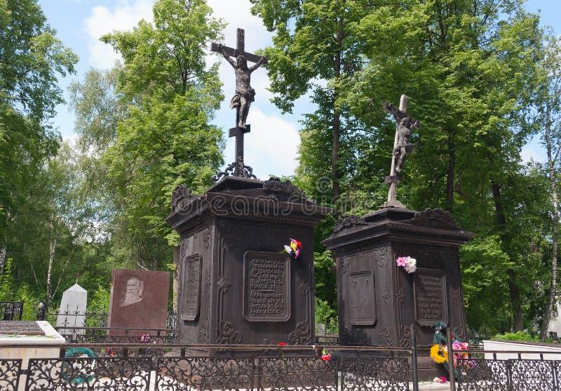 Cementerio conmemorativo Zavalnoe. Tobolsk. Rusia fotos de archivo