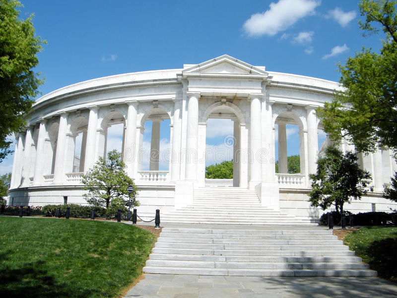 Cementerio de Arlington el Amphitheatre conmemorativo 2010 fotos de archivo libres de regalías
