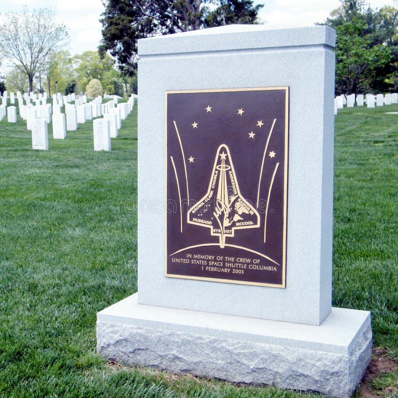 Cementerio de Arlington el monumento 2010 de Columbia foto de archivo
